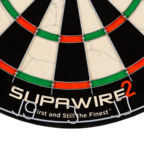 Nodor Supawire 2 Regulation-Size Bristle Dartboard with Moveable Number Ring and Hanging Kit