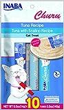 #3: INABA Churu Tuna Lickable Creamy Puree Cat Treats Variety Bag 10 Tubes