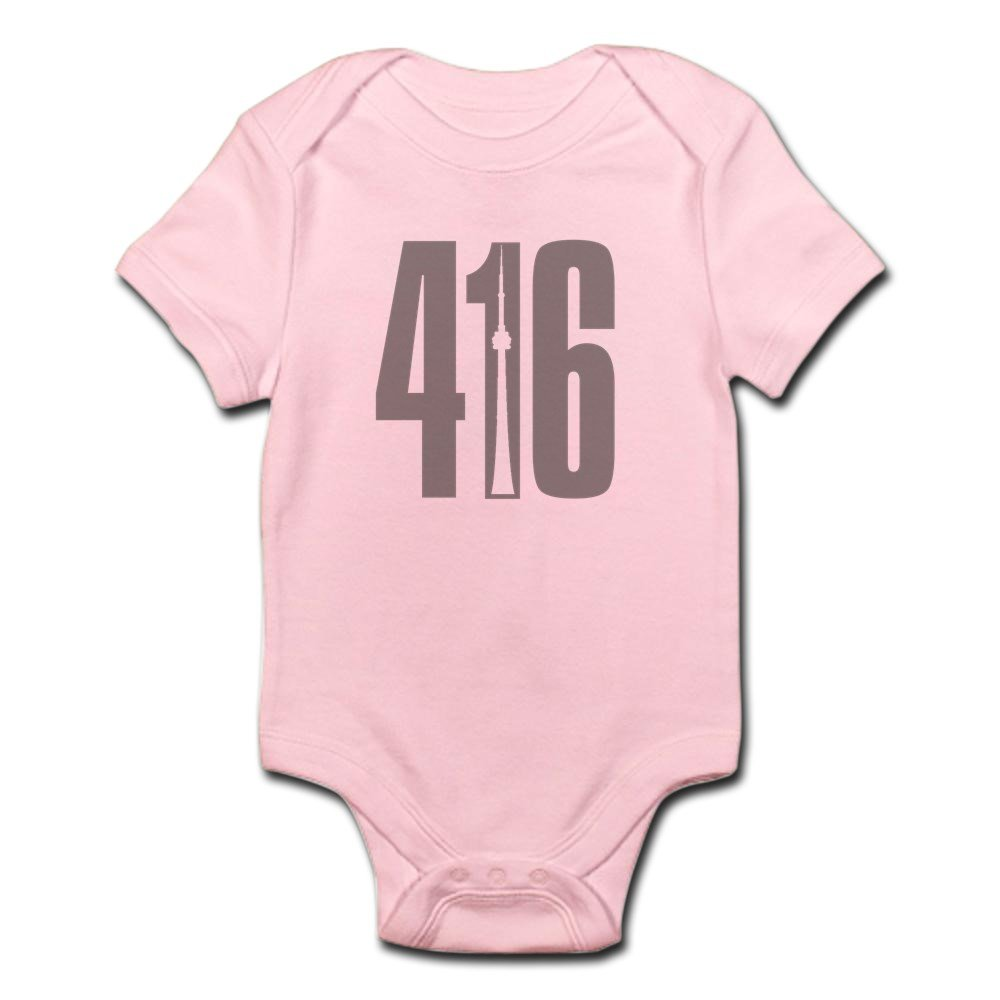 CafePress - 416 CN TOWER Gray Body Suit - Cute Infant Bodysuit Baby Romper