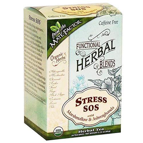 MATE FACTOR ORGANIC STRESS SOS WITH MARSHMALLOW AND ASHWAGANDHA TEA 20 TEA BAGS