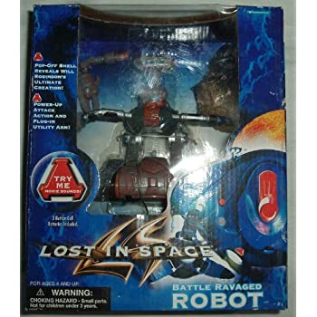 Amazon Com Lost In Space Battle Ravaged Robot Toys Amp Games