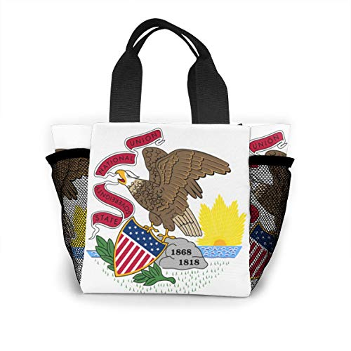 Ailigrfel Lunch Bag Tote Bag Lunch Organizer Lunch Holder Lunch Container -Illinois