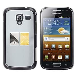 MobileHut / Samsung Galaxy Ace 2 I8160 Ace II X S7560M / House Window Deep Minimalist / Delgado Negro Plástico caso cubierta Shell Armor Funda Case Cover