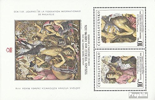 - Czechoslovakia block38 (Complete.Issue.) 1978 Stamp Exhibition (Stamps for Collectors) Painting