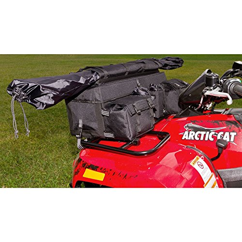 Black Widow Rage Powersports ATV-FRBG-9010 ATV Cargo Rack Gear Bag with 57'' Soft Rifle Case (Front) by Black Widow (Image #2)
