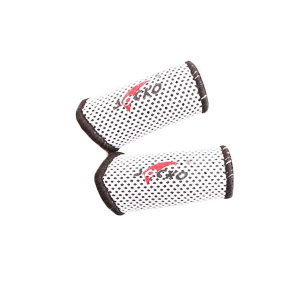 2PCS Extension Breathable Basketball Finger Guard Volleyball Finger Protector-03 Black Temptation