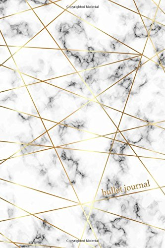 Bullet Journal: Marble + Gold Designer Bullet Journal | Dot Grid Notebook