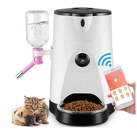 Alimentador De Mascotas Inteligente Cámara Remota Perro Gato Cuenca Sincronización Gato Perro Alimentación De Alimentos Máquina