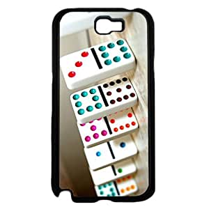 Game of Dominos - Phone Case Back Cover (Galaxy Note 2 - TPU Rubber Silicone)