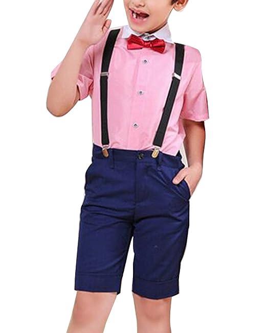 GladiolusA Conjunto Chicos Verano Mangas Cortas Camisas Y Pantalones Cortos  Conjuntos De Ropa Trajes  Amazon.es  Ropa y accesorios c355f2ee102f