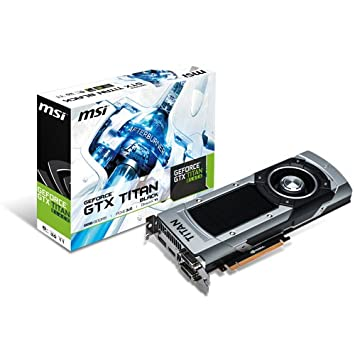 Amazon.com: MSI NVIDIA GTX Titan Black PCI-E Graphics Card ...