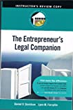 img - for The Entrepreneur,s Legal Companion Instructor's Rewiew Copy Ireland Morris Entrepreneurship Series book / textbook / text book