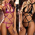 Hot Sale! Women's Sexy Lingerie, Howstar Hollow Out Bodysuit Strap Lingerie Leather Underwear Bandage Clubwear