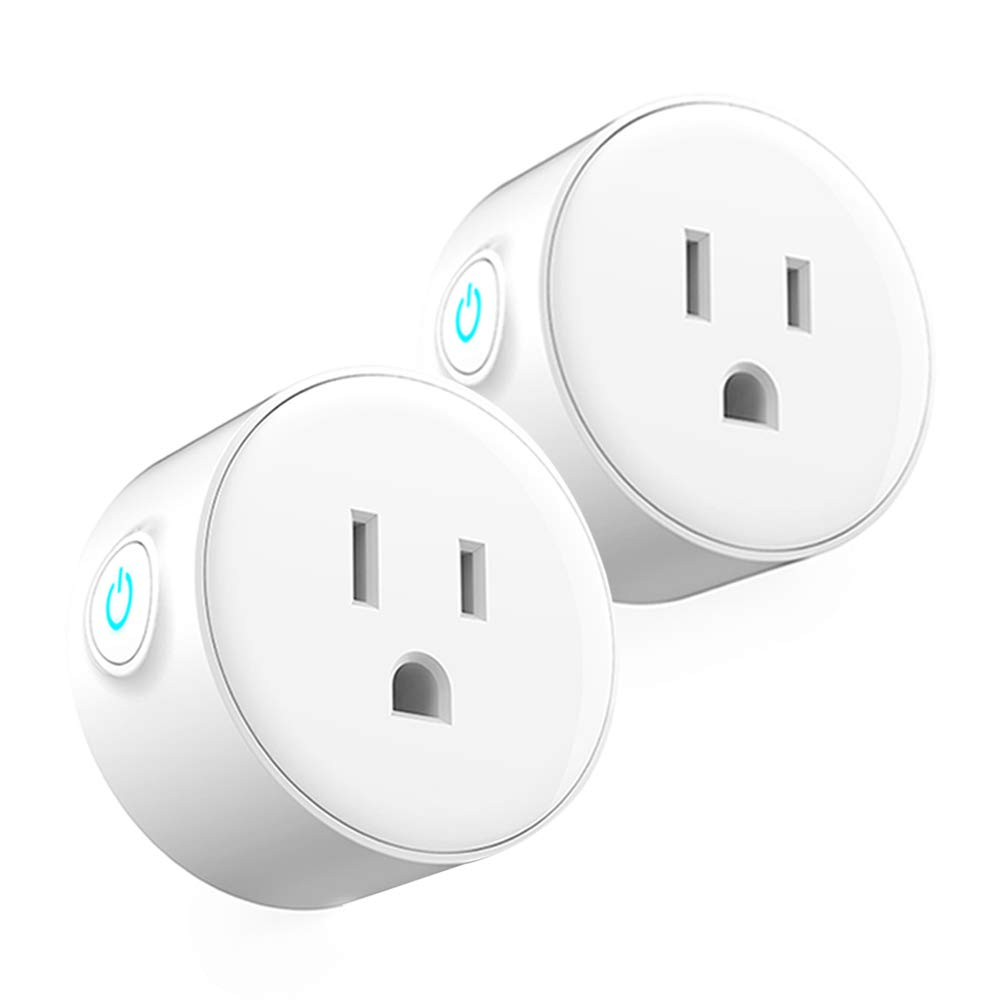 Wifi Mini Smart Plug Outlet Works With Alexa&Google Home, Wireless Timer Outlet Plug, Remote Control Wifi Smart Outlet Switch By Smart Phone From Anywhere, No Hub Required,ETL Listed (2 Pack)