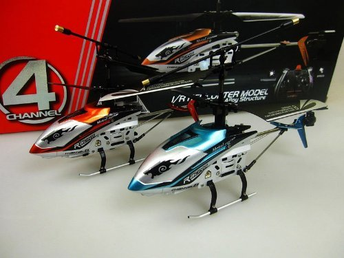 "(BLUE) 4 ch Indoor Infrared Remote Control Helicopter ""DRIFT KING"" with Gyroscope"