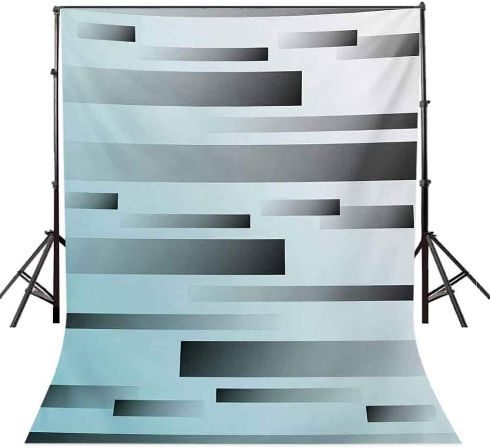 Striped 8x10 FT Backdrop Photographers,Abstract Symbolist Lines Featured in Modern Multi-Faceted Lines Sci Fi Artwork Background for Baby Shower Bridal Wedding Studio Photography Pictures Sky Blue Gr