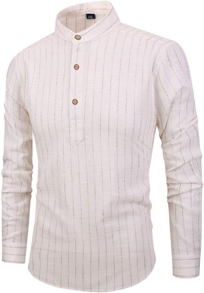 CSDM Camisa de Hombre Primavera Hombres Camisa de algodón de Lino Camisas Masculinas del Soporte Camisa de Manga Larga del Estilo Chino: Amazon.es: Hogar