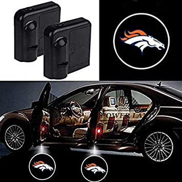 New Orleans Saints Car Door Courtesy Light Fit for All Brands of Cars 2 Pcs Wireless Car Door Led Welcome Laser Projector light for New Orleans Saints
