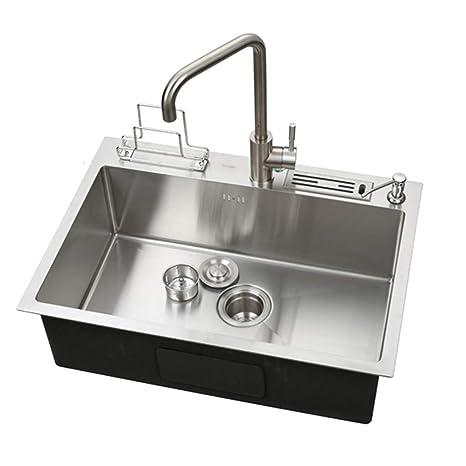 Lavelli da cucina Lavello da cucina con lavello in acciaio ...
