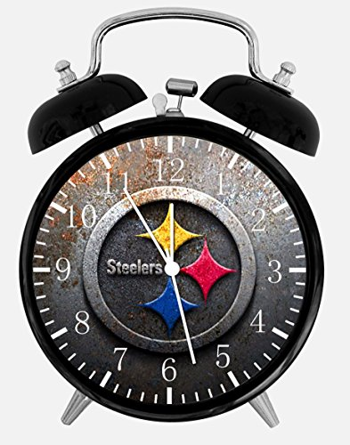 """Steelers Alarm Desk Clock 3.75"""" Room Decor X45 Will Be a Nice Gift at SteelerMania"""