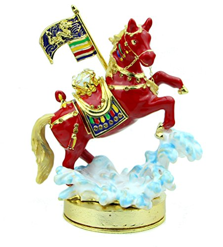 (Feng Shui Import Bejeweled Windhorse Over The Sea )
