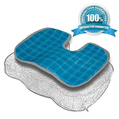 Soft&Care COOLING GEL PAD For Your Foam Seat Cushion! Premium Ultra Soft & High Comfort No Sweat Gel Pad make COOL Your Chair Cushion Orthopedic Coccyx Support Pillow For Back Pain Relief & Sciatica