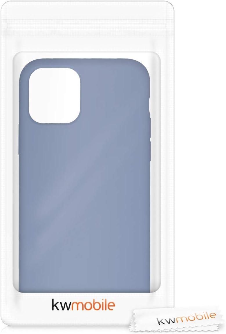 Carcasa de TPU para m/óvil kwmobile Funda Compatible con Apple iPhone 11 Pro Cover Trasero en Azul Verdoso