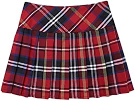 Girls Tartan Pleated Billie Kilt Miniskirt Kids Classical School Uniforms Skirt
