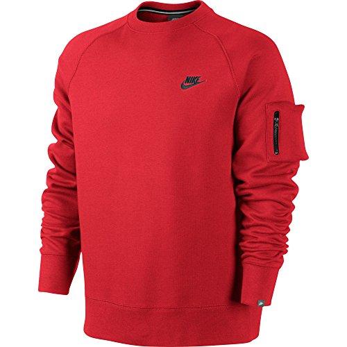 Felpa Nike Ace Fleece - Uomo Rosso / Nero 598701-603 (Taglia S)
