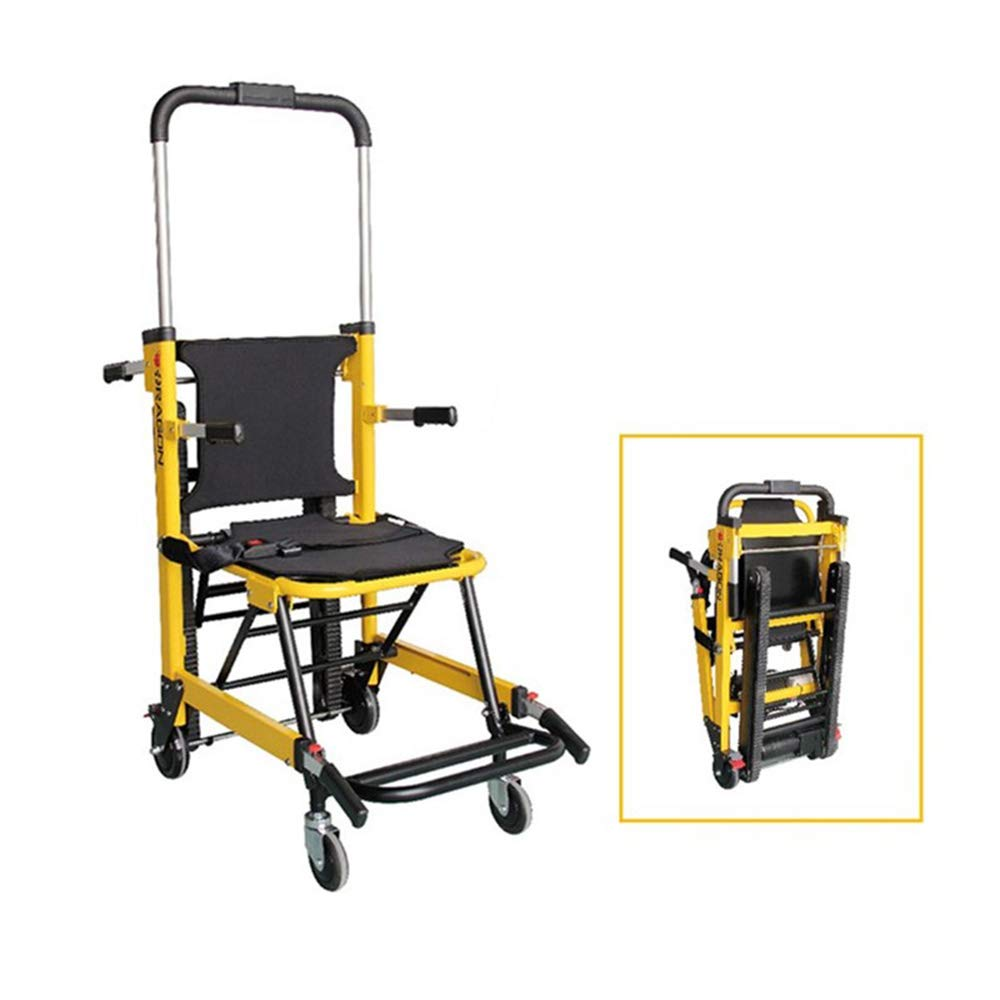 QETU Stair Evacuation Chair, Easy Cleaning and Operated Emergency Fire Rescue Evacuation Stair Chairs, 180Kg/396.8Ibs Capacity by QETU
