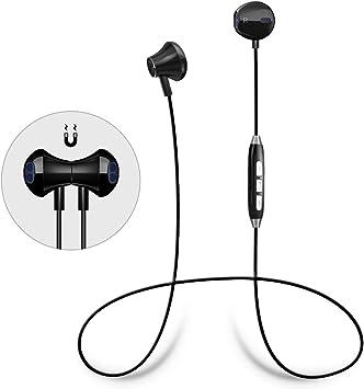 Auriculares Bluetooth Magnéticos Cascos Bluetooth Inalámbricos Deportivos con Microfono HD Incorporado, Cancelación de Ruido, Sweatproof IPX4 y Soporte Siri para iPhone iPad SamSung Huawei Xiaomi: Amazon.es: Electrónica