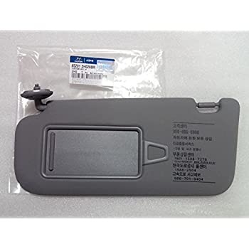 Hyundai Motors OEM Genuine 85201-2H020-8M Left Driver Inside Sun Visor Gray  1 c241b46e998