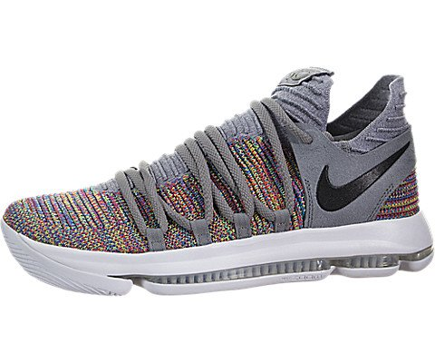 Nike Mens Kevin Durant KD 10 Basketball Shoes Multicolor/Black-Cool Grey-White 897815-900 Size 14