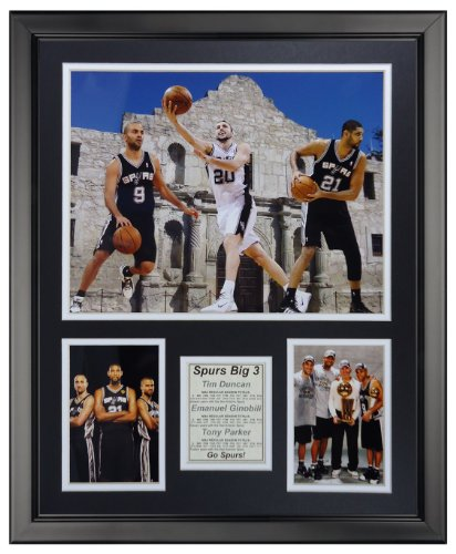Legends Never Die San Antonio Spurs - Big Three Framed Photo Collage, 16