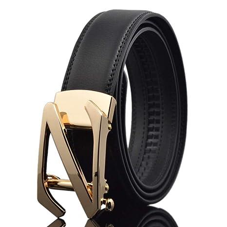 DENGDAI Leather Belt Mens Belt Belt Length 100-135cm