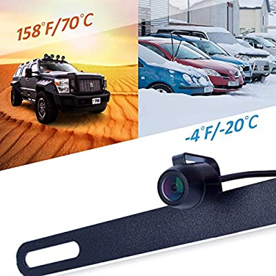 Digital Wireless Backup System, Waterproof and Night Vision Wireless License Plate Rear View Camera + 4.3'' Wireless Display for RV, Cars, Truck, Vans: Car Electronics