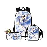 GIVE ME BAG Generic Ballet Toe Shoe Print School Backpack for Girl Teen Crossbody Cooler Bag
