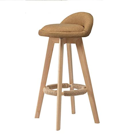 Amazon.com: Bar Stool Cotton and Linen Modern Style Counter ...