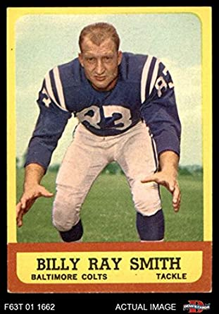 100% authentic 8de17 55c8f 1963 Topps # 9 Billy Ray Smith Baltimore Colts (Football Card) Dean's Cards  5 - EX Colts