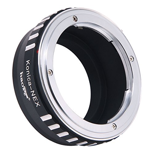 Haoge Manual Lens Mount Adapter for Konica AR Mount Lens to Sony E mount NEX Camera as NEX-3, NEX-5, NEX-5N, NEX-7, NEX-7N, NEX-C3, NEX-F3, a6500, a6300, a6000, a5000, a3500, a3000, NEX-VG10, VG20