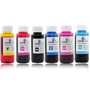BULK REFILL INK FOR EPSON 6 COLOR PRINTER 600ML 6X100ML FOR ...