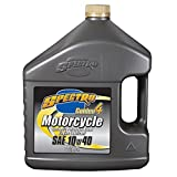 Spectro Golden 4 Synthetic Petroleum Blend Motorcycle Engine Lubricant 10w40 Oil (4 Liter Jug)