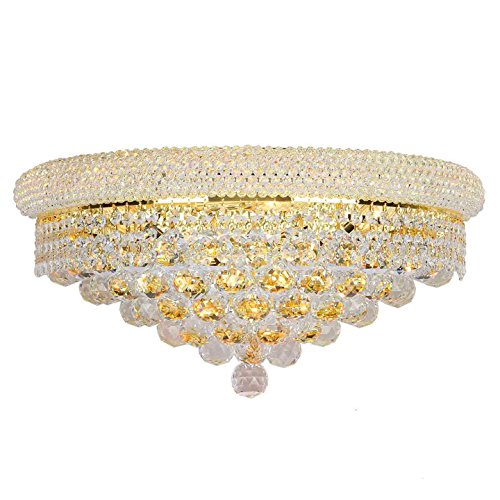 Crystal Sconce Bellacor (Worldwide Lighting Empire Collection 4 Light Gold Finish and Clear Crystal Wall Sconce 20
