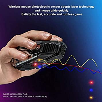 Rechargeable Wireless USB Interface Optical Sensor 10M Mute Gaming Mice