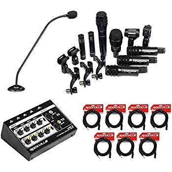audio technica 7 drum microphone kit podium mic mixer for church sound systems. Black Bedroom Furniture Sets. Home Design Ideas
