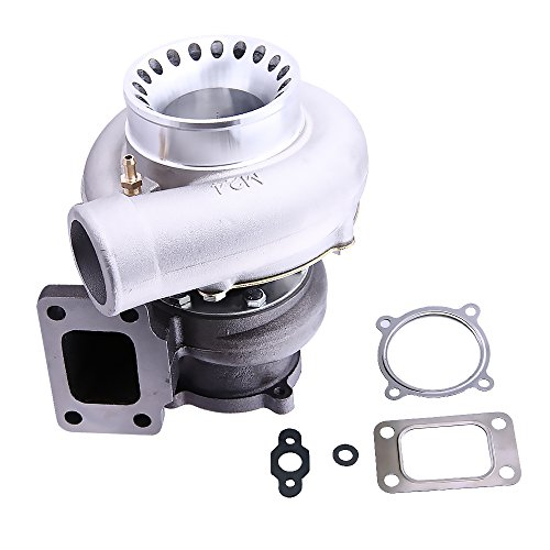 (maXpeedingrods GT35 GT3582 GT3582R Turbo Turbocharger T3 Flange 600HP +, 0.63A/R 0.7A/R 4 Bolt Universal Turbocharger, Water + Oil Cooled Turbo Charger for 4/6 cylinder 2.5L-6.0L Engines)