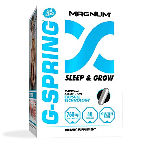 Magnum Nutraceuticals G-Spring Sleep & Grow - 48 Capsules - Sleep Aid Supplement - Deep Sleep - Improve Recovery - Burn More Fat