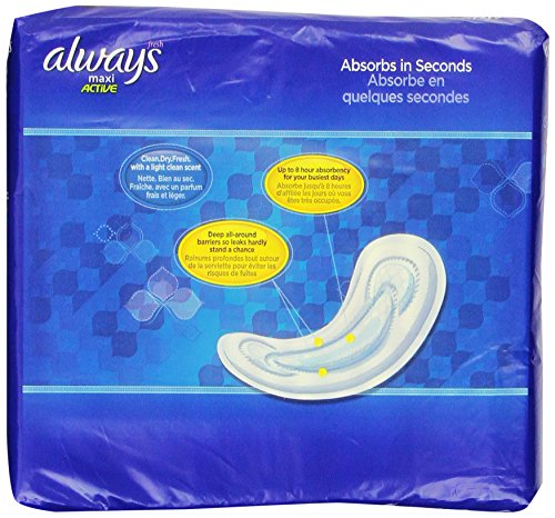 Always Maxi Clean Scent Pads without Wings, Regular, 45