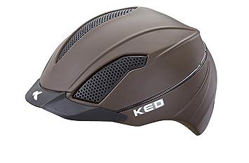 KED Casco de equitación hípica Allegra L (57 – 63 cm) marrón/mate