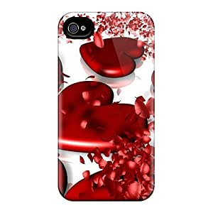 First-class Cases Covers For Iphone 6 Dual Protection Covers 3d Hearts